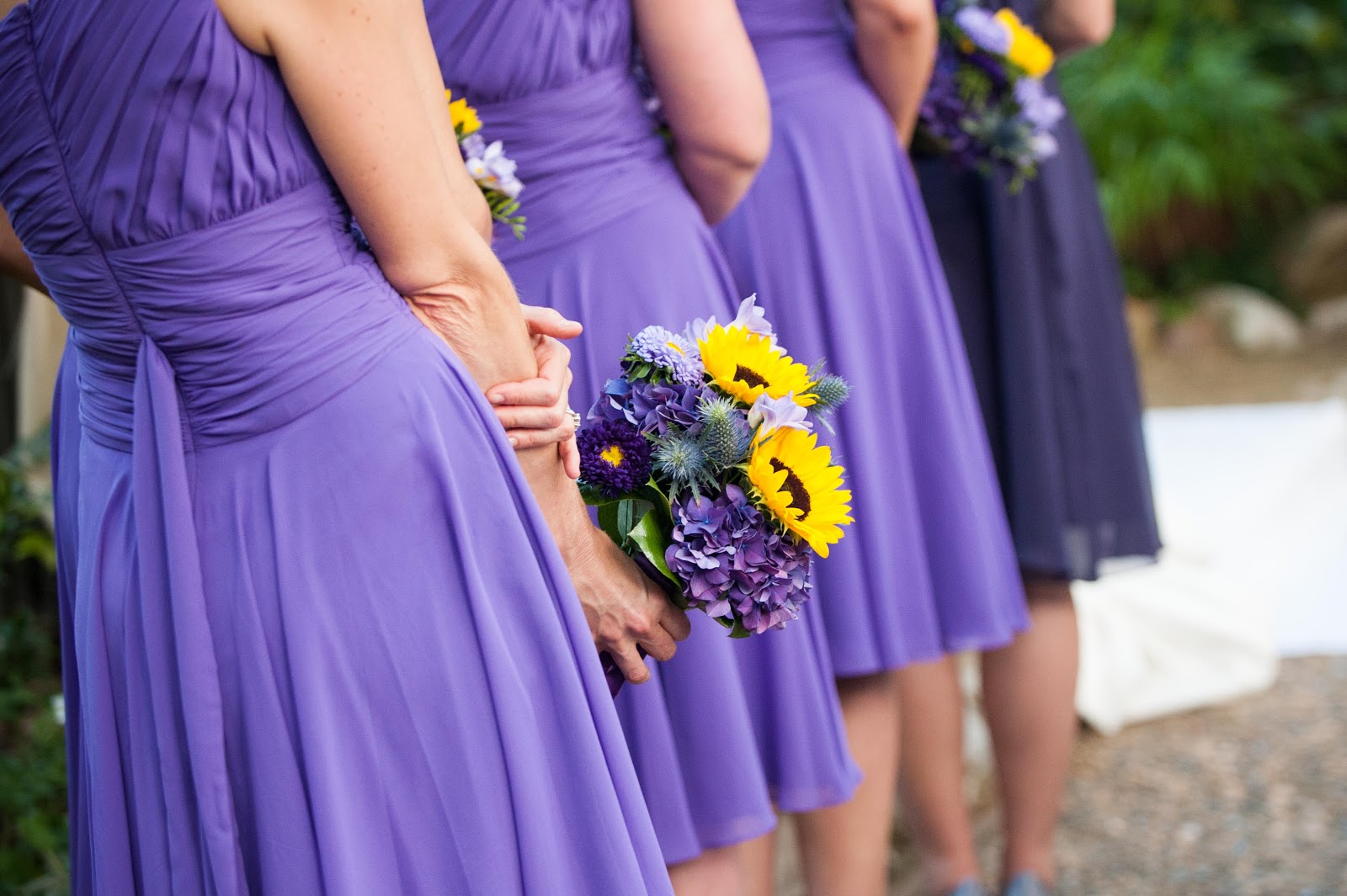 Purple And Yellow Wedding Bridesmaid Dresses Image collections ...