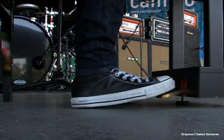 Greyson Chance Black Converse during a live show