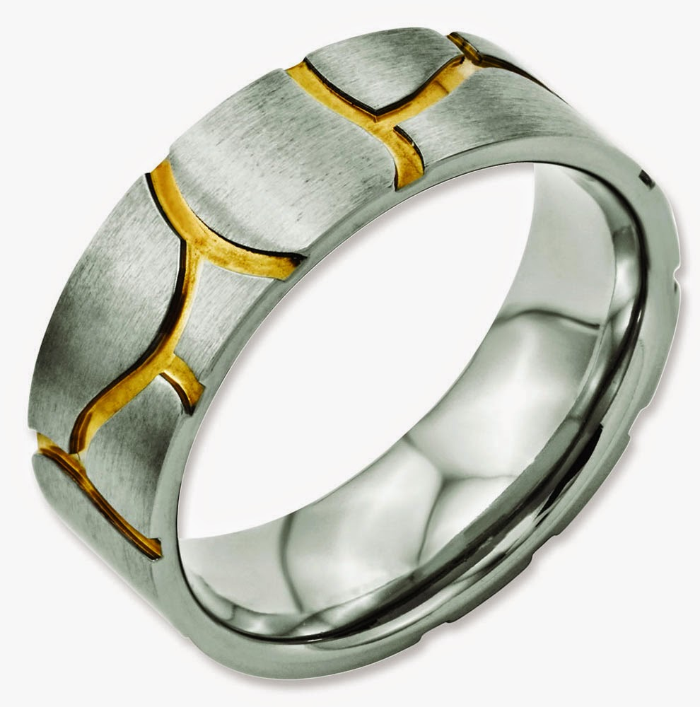 unique mens wedding rings two colour gold model