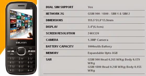 Celkon C6i price image