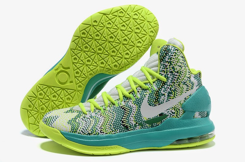 New Products Nike Zoom KD V Yellow Green Black Men Basketball