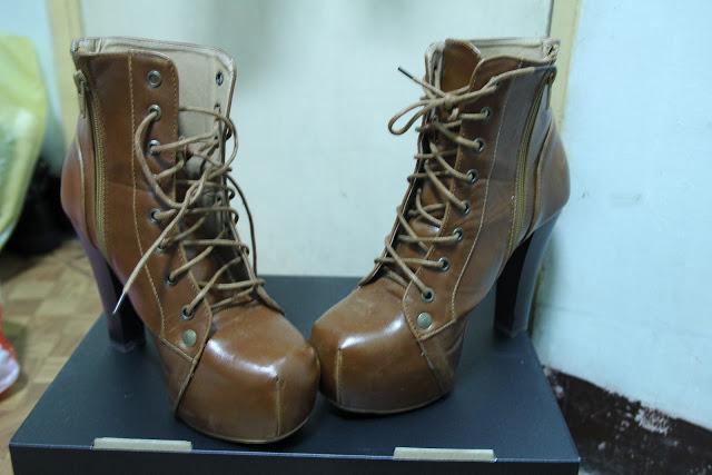 lita booties vintage thrift