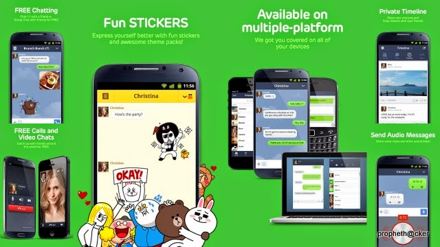 Line for Free Video Call in Android