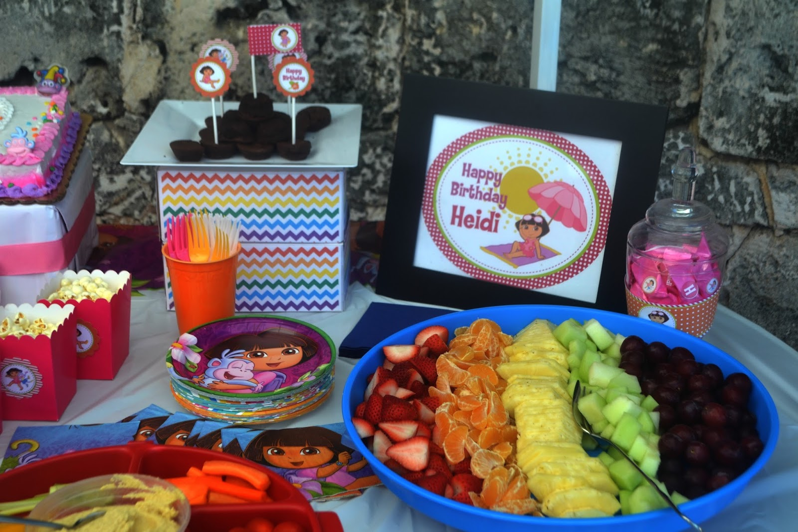 Food Family Fun Dora the Explorer Birthday Party on a budget