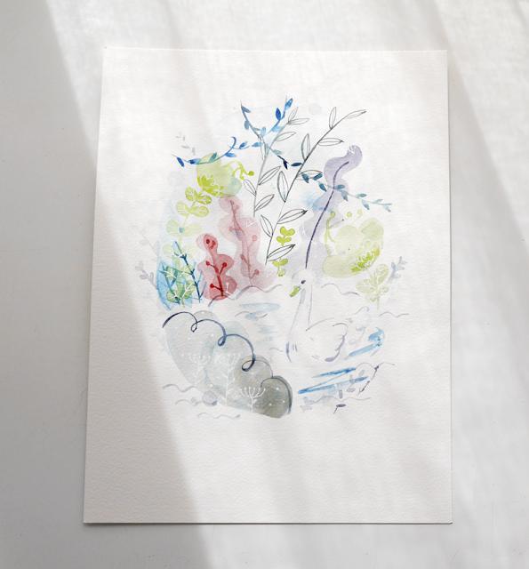 cisne, swan, illustration, ilustración, bigcartel, shop, tienda, acuarelas