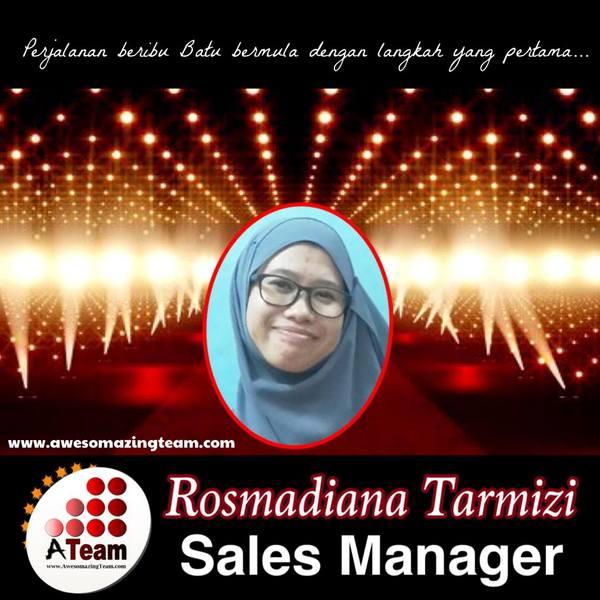 rosmadiana tarmizi dianugerahkan sales manager  2015