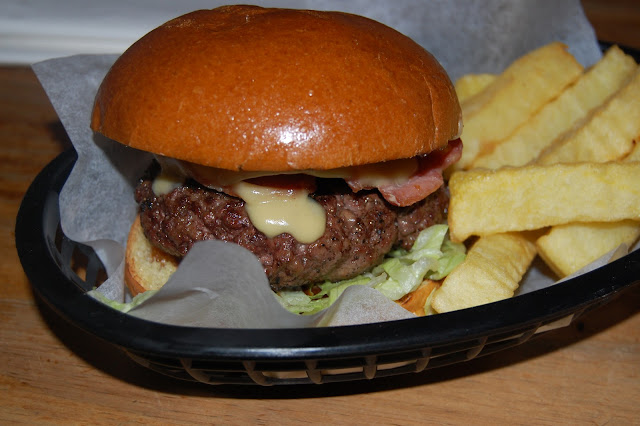 French dipped Disco Bistro burger