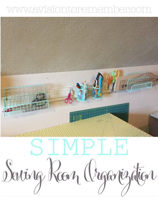Simple and Cheap Sewing Room Organization