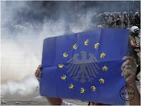 Funny photo postcard Uniunea Europeană Steag