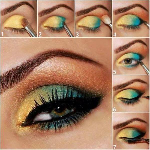 Mujer con estilo tutorial makeup c mo combinar el - Como hacer color turquesa ...