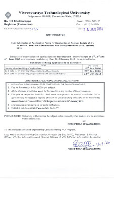 VTU MBA revaluation application
