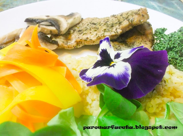 przepis na niedzielny zdrowy obiad w parowarze