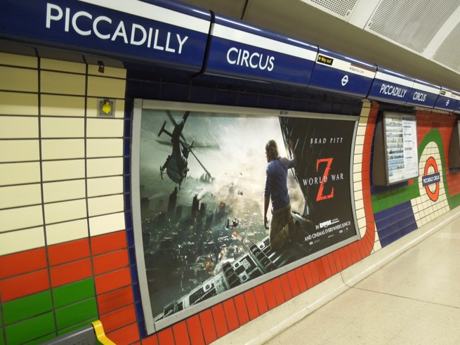 World War Z London movie poster