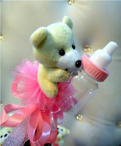 Bunga Telur Teddy Bear Botol Susu