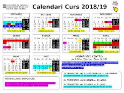 Calendari curs 2018-19