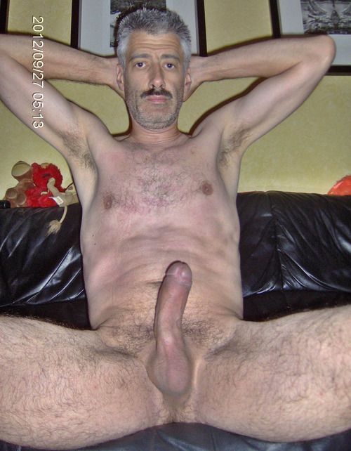 mature gay bears - moustache daddy naked