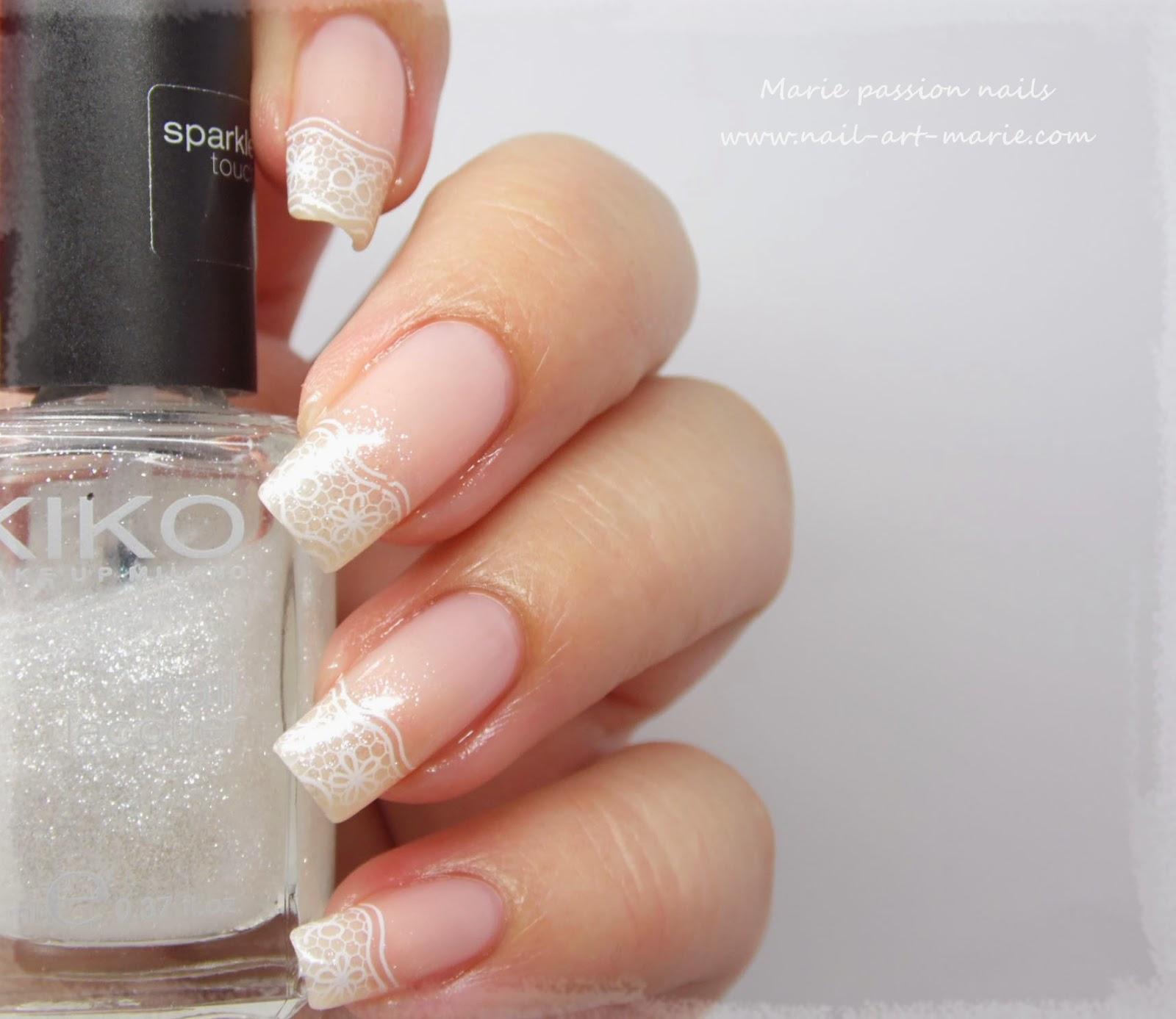 nail art french en dentelle4