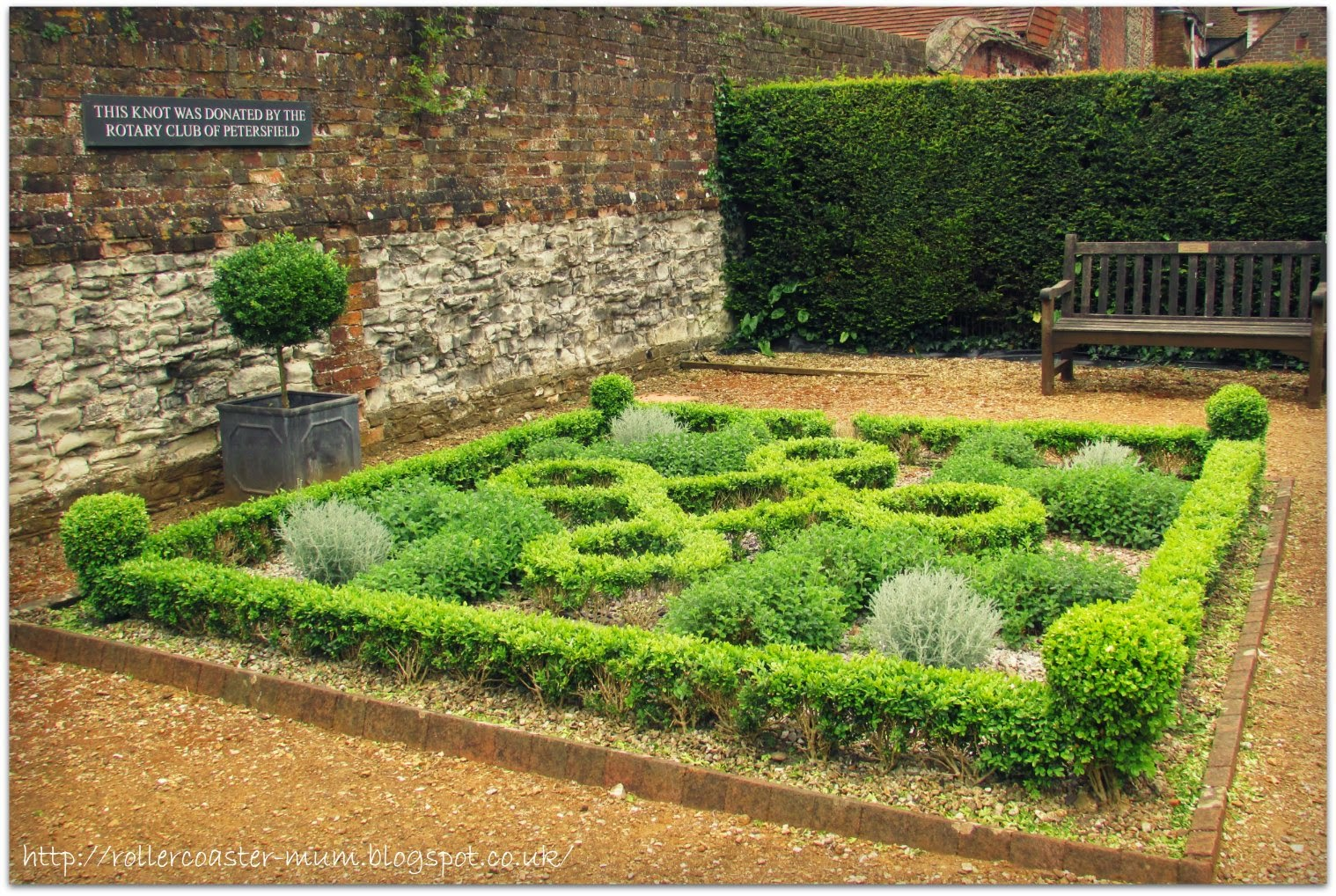 #alphabetphoto, G is for Garden, Petersfield Physic Garden , knot garden