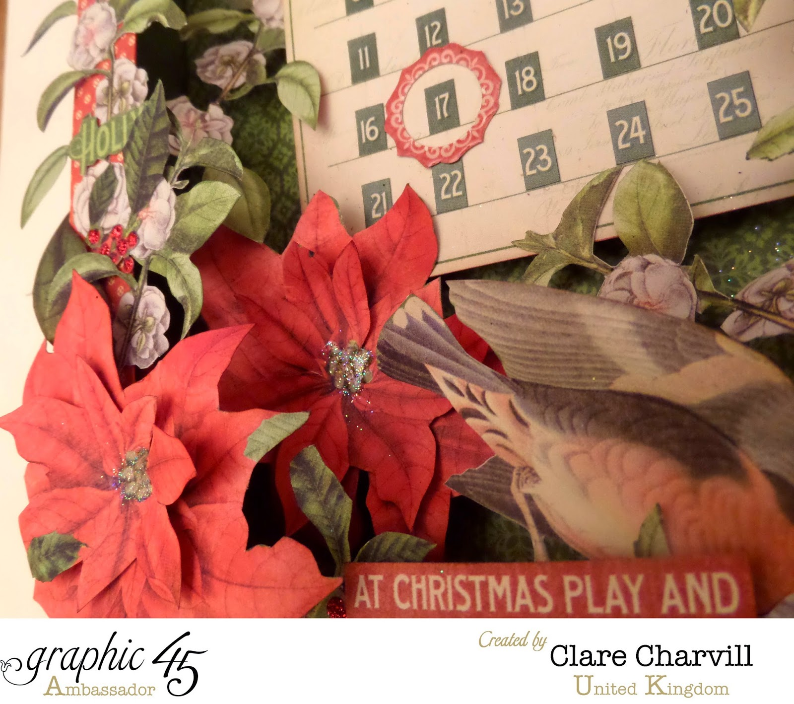 Time to Flourish Countdown to Christmas Advent Calendar 3  Clare Charvill Graphic 45