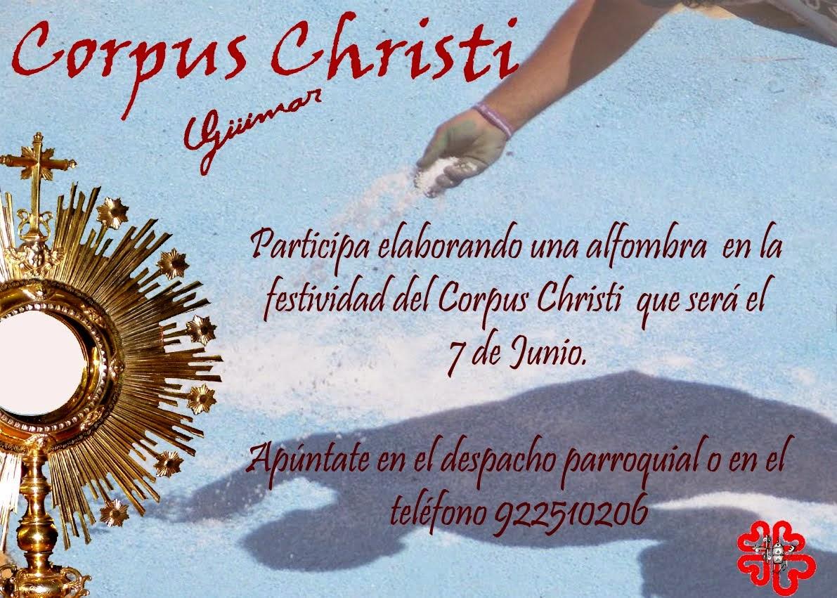 Ya puedes inscribirte en la realización de las alfombras para el Corpus 2015. Pincha en la foto