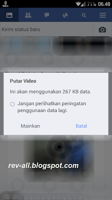 Screenshot peringatan ukuran video yang akan dibutar facebook lite oleh rev-all.blogspot.com