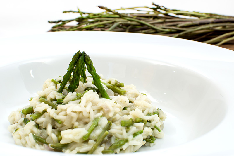 Risotto with wild asparagus
