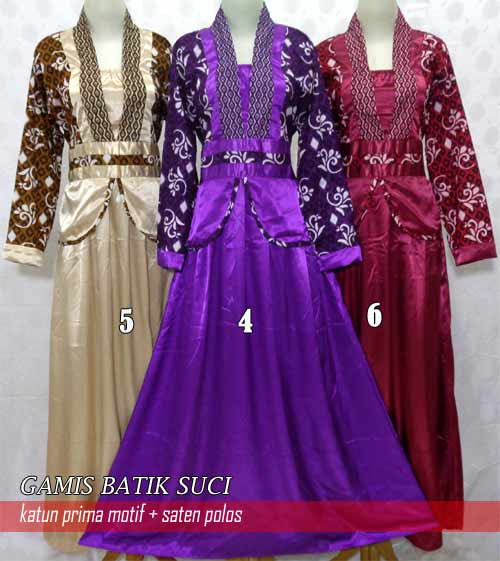 Model Gamis Batik Terbaru 5 Jpg New Style For 2016 2017
