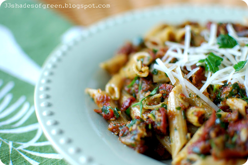 penne with tomato pesto and penne with tomato pesto and serves 4 ...