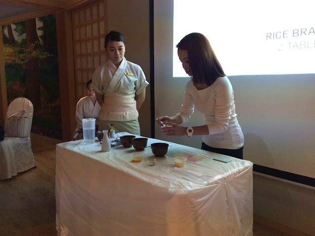 Japanese Secret Beauty Workshop at Ikeda Spa singapore diy facial mask