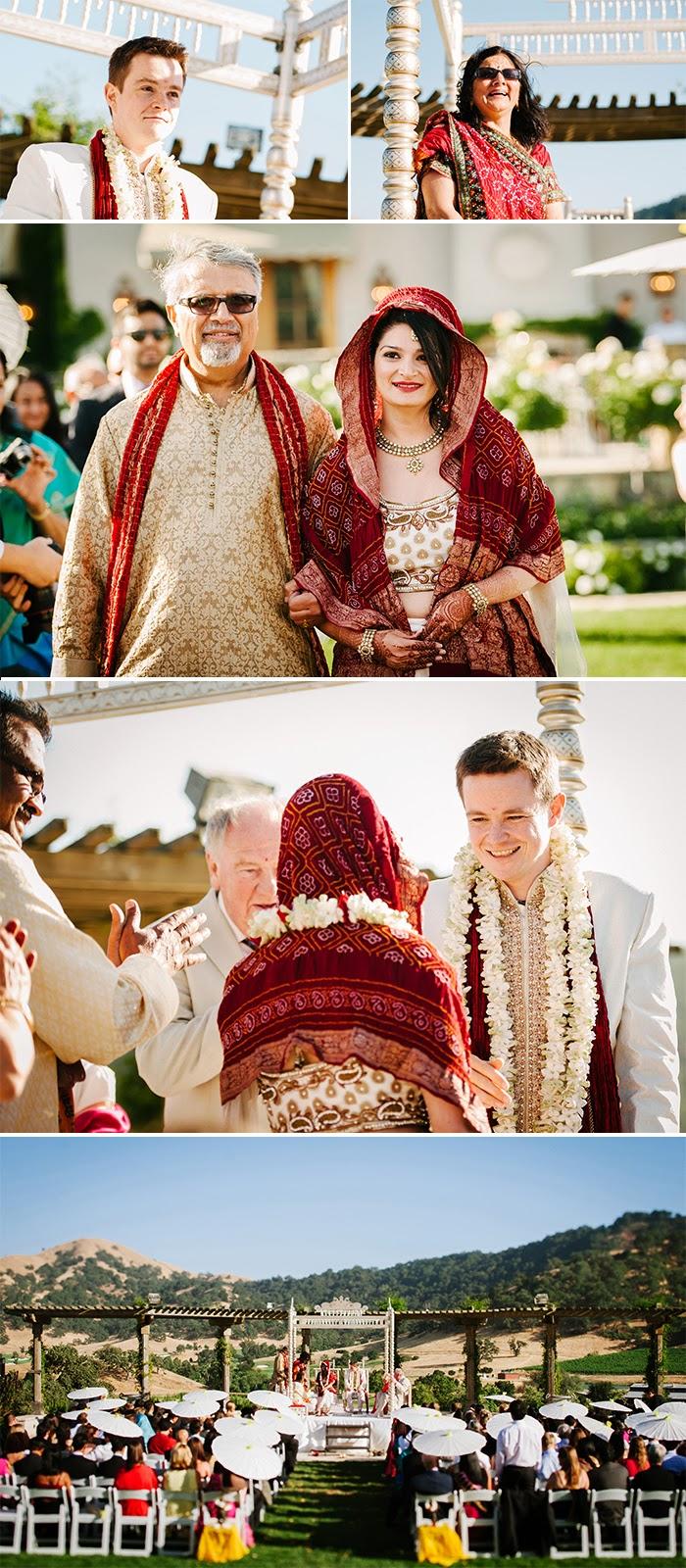 San Martin wedding Indian ceremony Clos LaChance Winery
