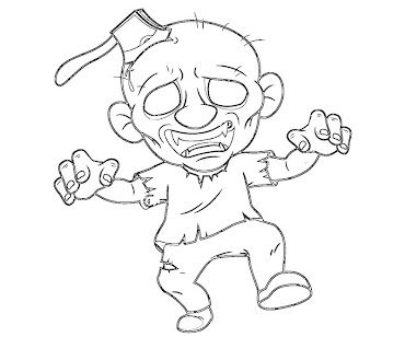 #9 Zombie Coloring Page
