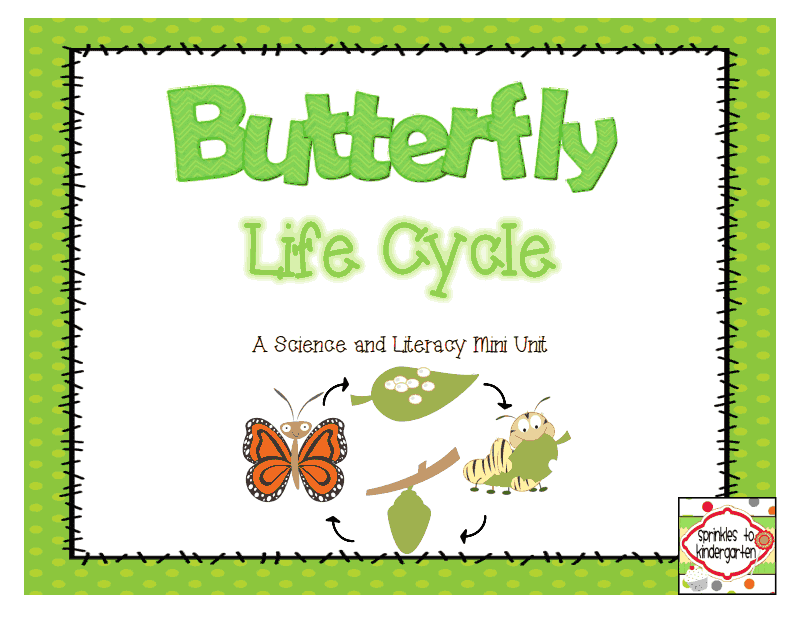 http://www.teacherspayteachers.com/Product/Butterfly-Life-Cycle-A-Science-and-Literacy-Mini-Unit-1156405