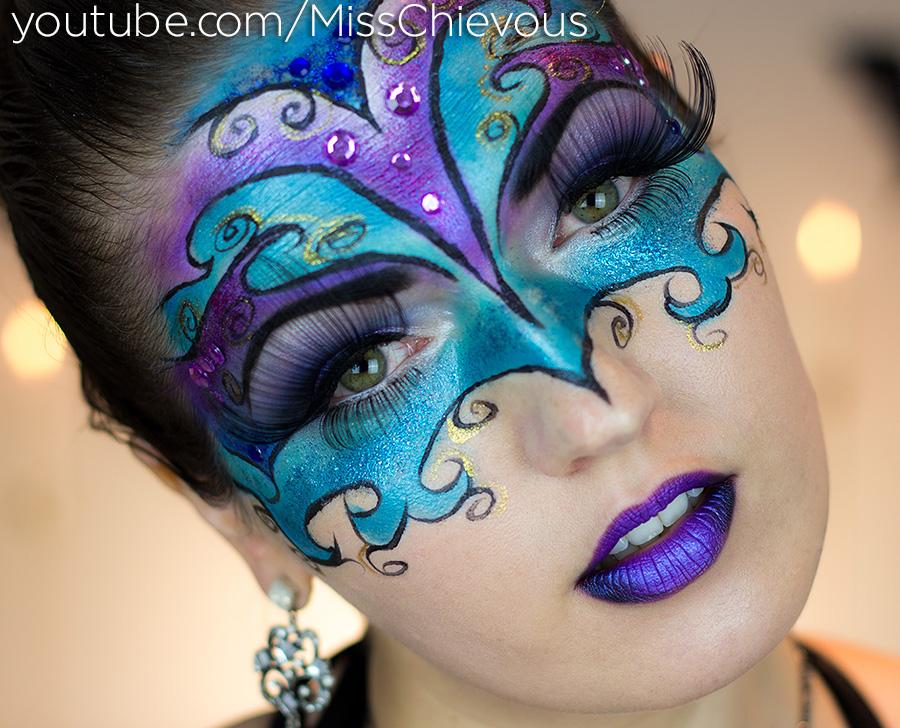 Julia Graf Masquerade Makeup