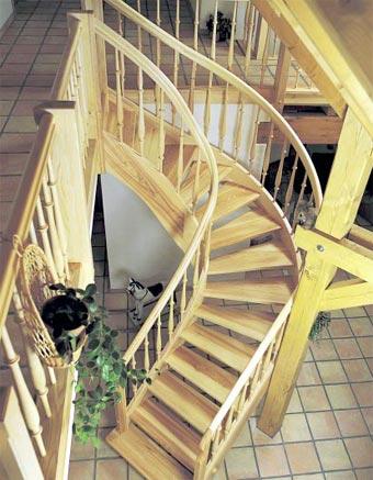 Tipos de escaleras para el interior de la casa cocinas - Escaleras tres tramos ...