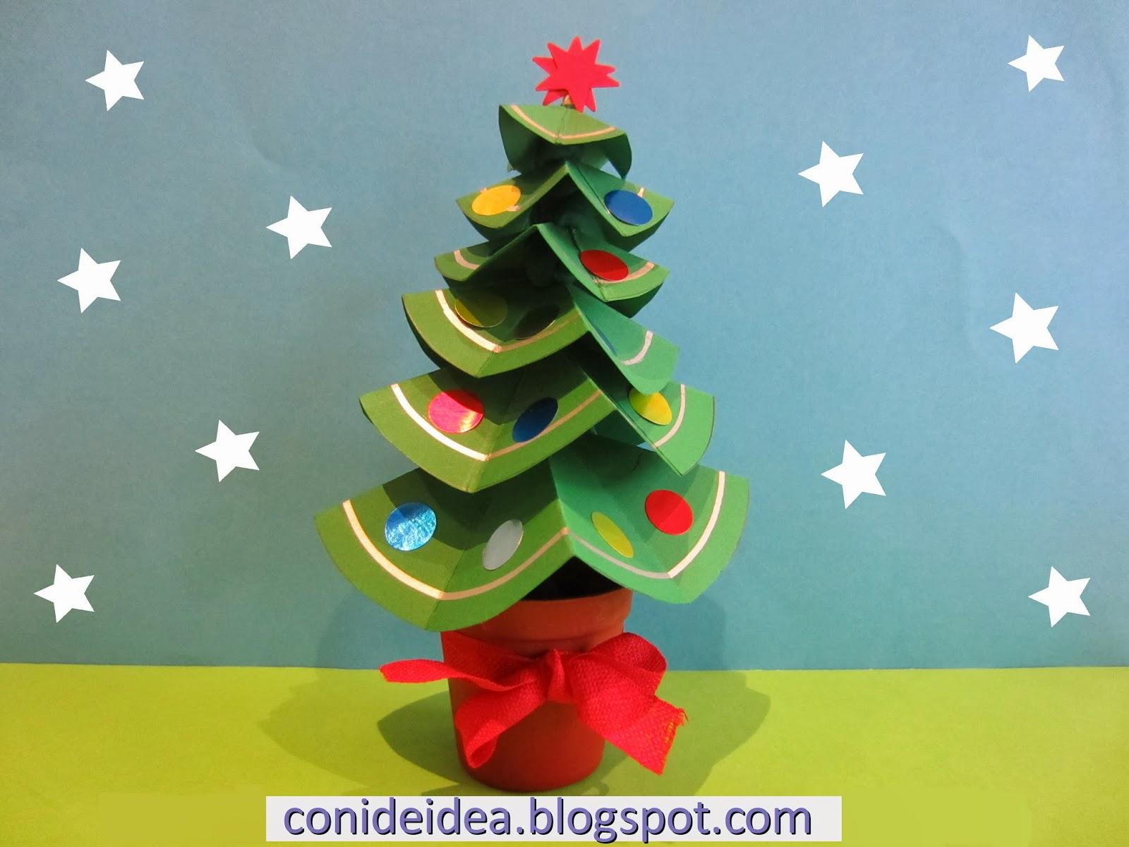 Manualidades con i de idea rbol de navidad for Ambientacion para navidad