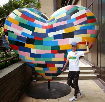 ปฏิมากรรมรูปหัวใจ ที่ Hilton พัทยามาราธอน