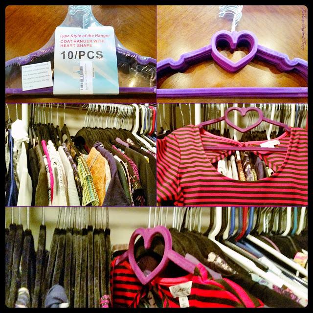 Heart Detailed Velvet Coat Hangers