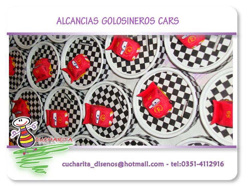 ALCANCIAS GOLOSINEROS DE CARS