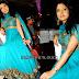 Pooja with Blue Designer Salwar Kameez