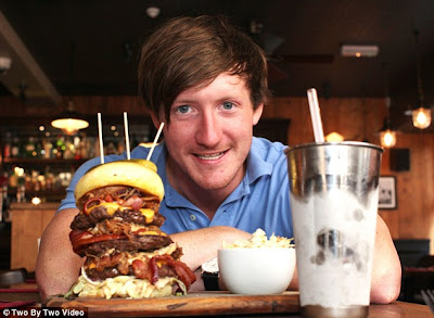 The Tallest Order Gut Busting 8in Burger Challenge To