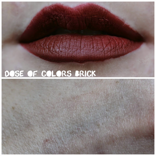 Dose of Colors Matte Lipstick in Brick