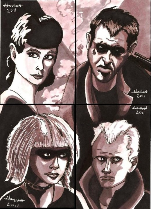 Blade Runner Sketch Card Set por Fellhauer
