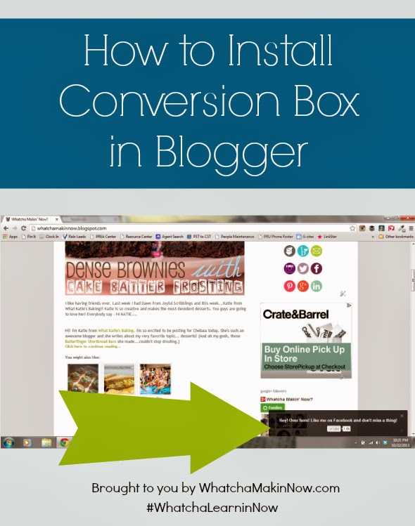 How to Install Conversion Box in Blogger - FREE tool to capture your blog readers and expose to your FB page!