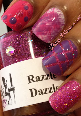 Razzle Dazzle, Nail art, Fan brush