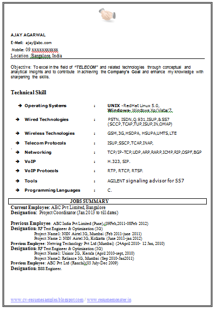 sample resume for software tester 2 years experience buy original