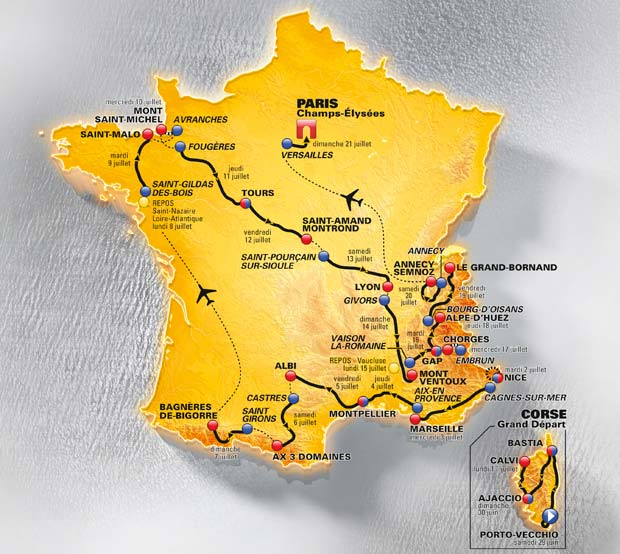 winebookgirl wines of the tour de france 2013 the route map. Black Bedroom Furniture Sets. Home Design Ideas