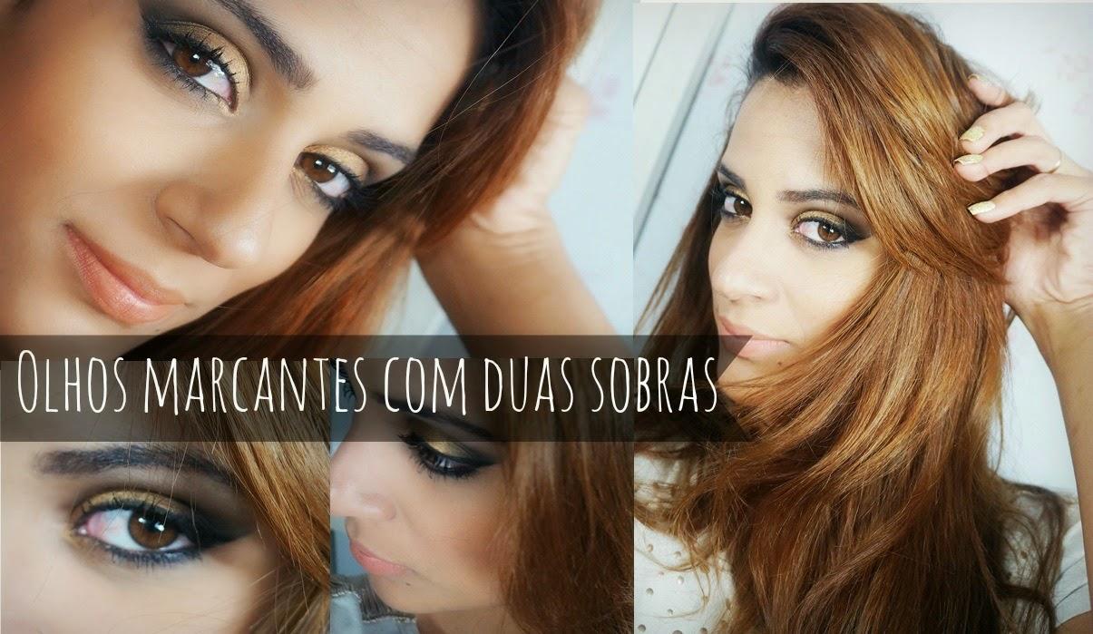 Evelyn Lobo maquiagem preto com dourado