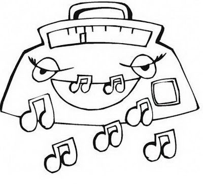 COLOREA TUS DIBUJOS: Radio grabadoras para colorear y pintar