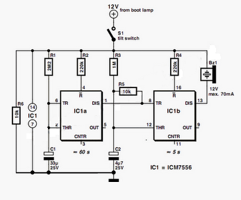 Warning Circuit diagram