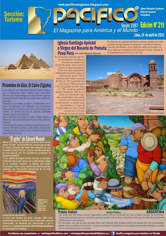 Revista pacífico Nº 219 Turismo